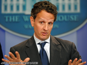 Treasury Secretary Timothy Geithner spoke last week after meeting with Pres. Obama and the bipartisan Congressional leadership to discuss financial reform. 