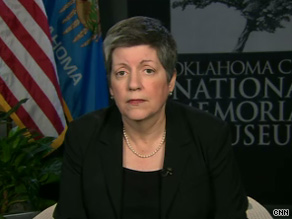 'There's obviously a great deal of political anger out there and angry rhetoric out there,' Homeland Security Secretary Janet Napolitano said in an interview that airs Monday on CNN.
