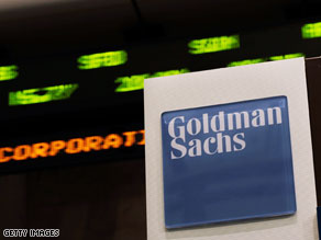 Goldman Sachs, Wall Street's top investment bank, was a generous contributor to Obama's presidential campaign.