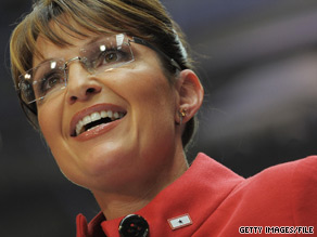 Palin addressed a Republican fundraiser in Eugene, Oregon Friday.