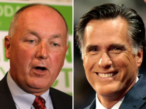 Mitt Romney announced Thursday his endorsement for Michigan Rep. Pete Hoekstra, who is running for governor of his state.