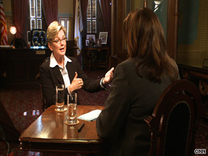Michigan Gov. Jennifer Granholm told CNN's Candy Crowley that Democrats will need to sell financial and health care reform to find success in November's elections.