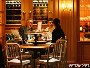 Alain Ducasse is seen at his Tokyo restaurant.