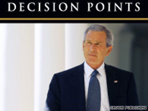 Former President George W. Bush's memoir, 'Decision Points,' will be published on November 9.