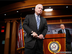 Sen. John McCain addressed his home state's controversial immigration law on Monday.