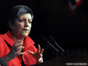 Homeland Security Secretary Janet Napolitano said Friday that the idea of 'terror babies' infiltrating the United States is 'off the mark.'
