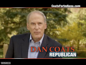 Republican Dan Coats is up with his second television ad in Indiana.