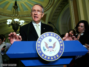 Senate Majority Leader Harry Reid switched his vote from &#039;yes&#039; to &#039;no,&#039; in a procedural move that allows him, under the Senate rules, to bring the bill up again as early as Wednesday for another vote.