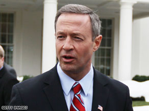 Gov. Martin O&#039;Malley of Maryland began his re-election bid Tuesday.