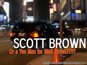 Massachusetts Sen. Scott Brown is the target of a new ad.