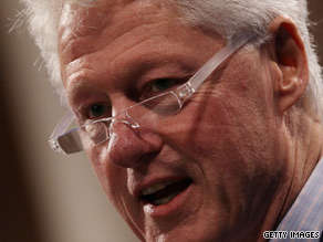 Bill Clinton is giving embattled investment bank Goldman Sachs the benefit of the doubt. Sort of.