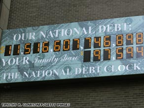 The National Debt Clock in Manhattan.