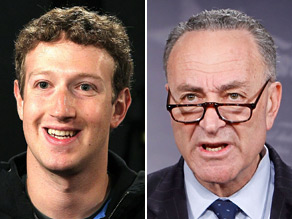 Sen. Chuck Schumer, D-New York, sent a letter to Facebook CEO Mark Zuckerberg asking him to change the social networking website's privacy settings.