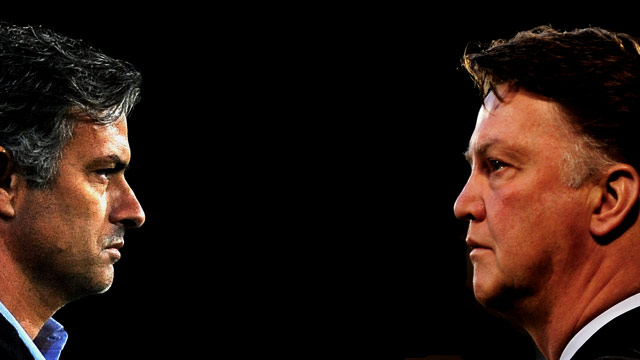 The showdown between Jose Mourinho and Louis Van Gaal is now set for the Champions League final (Getty Images).