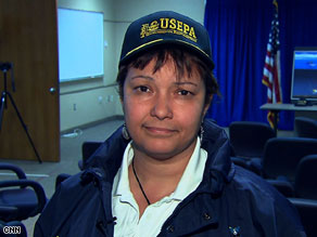 EPA administrator Lisa Jackson said Friday there is a chance that workers will be able to stop the flow of oil into the Gulf of Mexico.