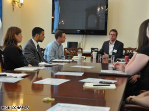 Twitter co-founder Biz Stone meeting with GOP House staffers.