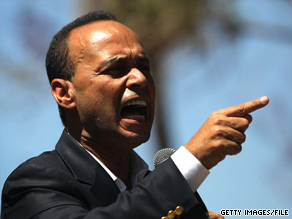 Rep. Luis Gutierrez, shown here at a recent immigration reform rally, was arrested outside the White House Saturday.