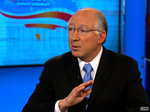 Interior Secretary Ken Salazar called the oil spill in the Gulf of Mexico 'potentially' catastrophic.