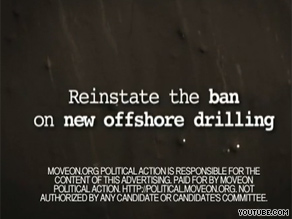 MoveOn is out with a new TV ad asking President Obama to reconsider a new policy.