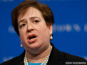 As solicitor general, Elena Kagan is the administration's top lawyer before the Supreme Court.