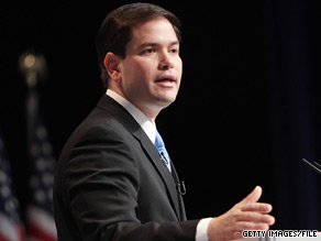 Florida Senate candidate Marco Rubio spoke out Tuesday against the Mirandization of Faisal Shahzad.