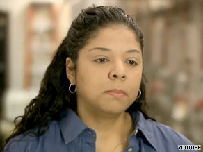 Ohio Gov. Ted Strickland's new ad features Meghan Cofield, a Dayton factory worker whose job 'got shipped to China' thanks to trade deals like NAFTA.
