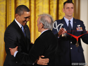 Elie Wiesel and President Obama met Tuesday at the White House. Both are pictured here in a file photo.