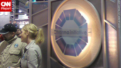 The Dharma Initiative booth at San Diego Comic-Con 2008
