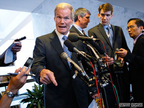 Sen. Bill Nelson, D-Florida, met with BP executives Tuesday on Capitol Hill.