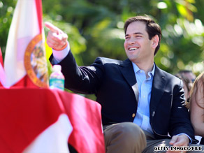 Florida Republican Marco Rubio, pictured, has received the endorsement of former Florida Gov. Jeb Bush.