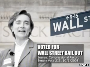 A new ad released by labor group SEIU targets Arkansas Sen. Blanch Lincoln.