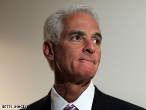 A Mason-Dixon poll reveals that Florida Gov. Charlie Crist leads a hypothetical three-way race for Senate.