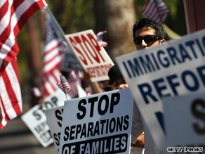 Protesters from several states swarmed the streets of Phoenix on Saturday to rally against Arizona's controversial immigration law.