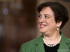 Solicitor General Elena Kagan will continue to work for the Justice Departmentfor now.