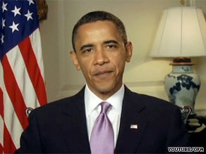 President Obama spoke directly to the camera in a video e-mailed to his supporters in which he touts his Supreme Court nominee, Elena Kagan, as 'one of our nation's foremost legal minds.'