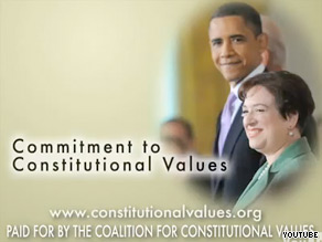 An early ad supporting high court nominee Elena Kagan is hitting airwaves Tuesday.