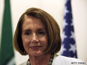 House Speaker Nancy Pelosi downplayed Thursday the anti-incumbent mood around the country.