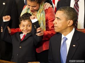 Obama declined to answer questions at bill signing for the Freedom of Press Act.