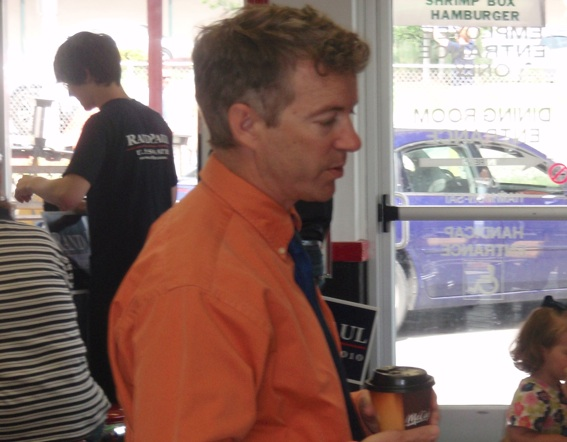 Rand Paul campaigns in Kentucky one day before the Senate primary there.