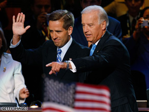Delaware Attorney General Beau Biden was discharged from the hospital Tuesday.