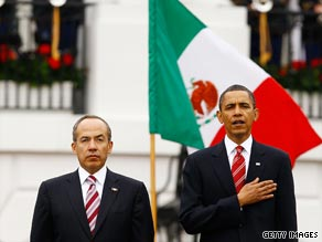 Calderon is visiting the White House.