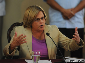 Rep. Ileana Ros-Lehtinen said Thursday that Florida beaches are open for business.