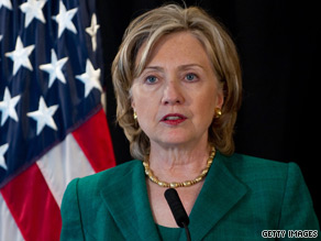 Secretary of State Hillary Clinton spoke Monday in China.