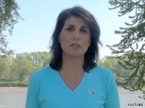 South Carolina Gov. hopeful Nikki Haley denied Monday that she had an affair with a political blogger.