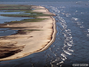 Oil washes ashore in Louisiana. Most Americans say that the oil spill in the Gulf of Mexico will personally affect them.