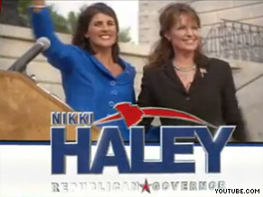 Sarah Palin is featured in South Carolina Republican Nikki Haley&#039;s new ad.
