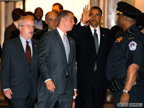 President Obama heads into a closed door meeting Tuesday with Senate Republicans on Capitol Hill.