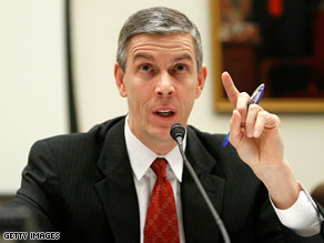 Arne Duncan is calling for emergency education spending.