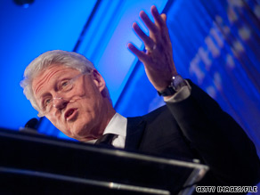 Former President Bill Clinton campaigned for Arkansas Sen. Blanche Lincoln Friday night.