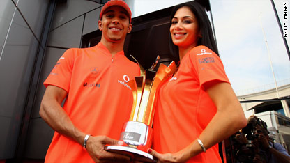 Nicole Scherzinger and Lewis Hamilton